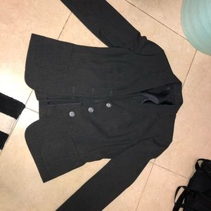 Grey woman's business formal jacket and pants